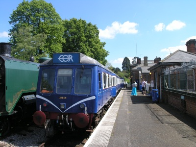 Ongar station platform showing EOR's loco